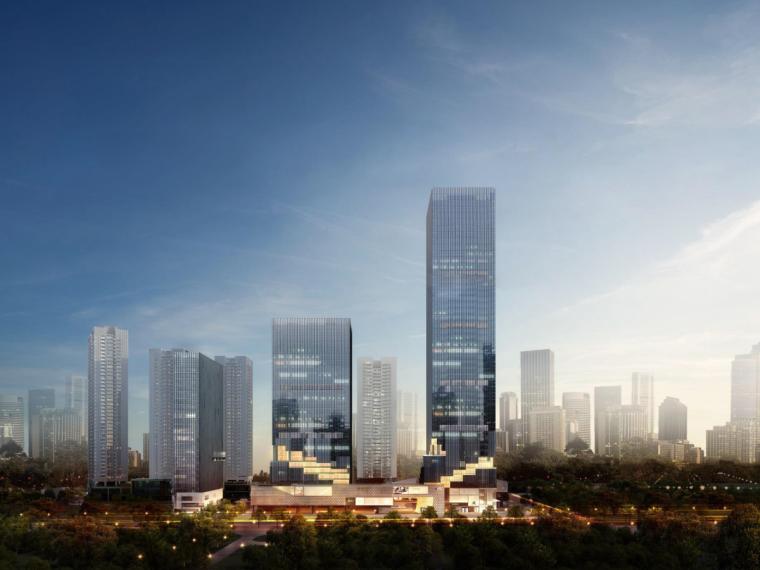 [广东]深圳招商中环现代风格综合体建筑模型设计(2018年)