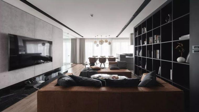 现代感公寓资料下载-现代公寓,卧室、书房的墙面这样装太好看了!