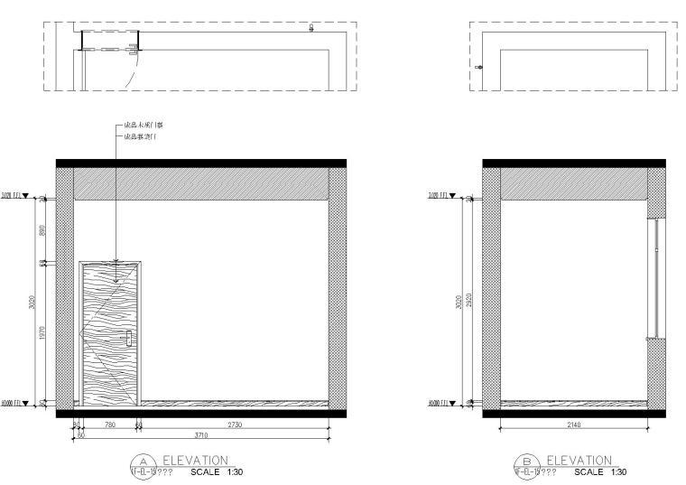 [浙江]杭州千岛湖住宅样板间CAD施工图+实景-立面图