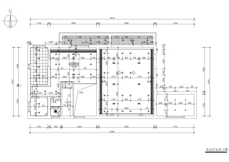 [浙江]杭州千岛湖住宅样板间CAD施工图+实景-灯具尺寸图