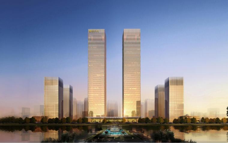 [黑龙江]绿地大庆超高层办公楼设计(现代风格)