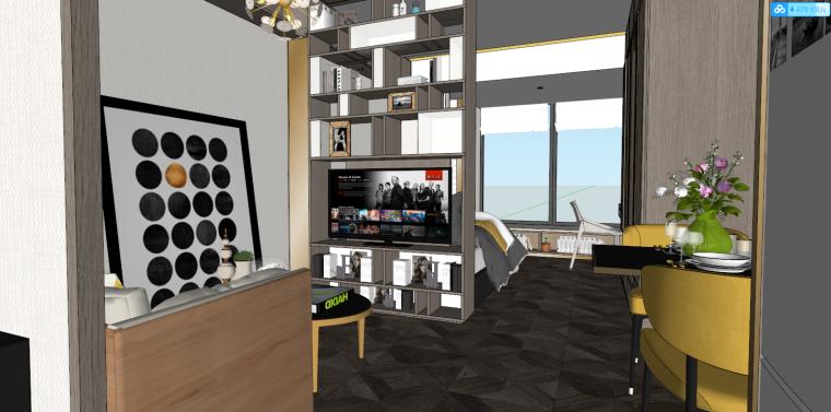 后现代风格轻奢公寓建筑模型设计-后现代/轻奢公寓 (1)