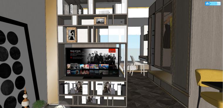 后现代风格轻奢公寓建筑模型设计-后现代/轻奢公寓 (2)