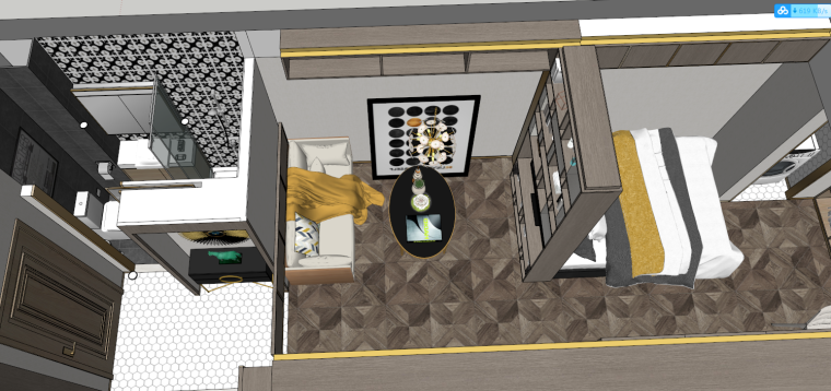 后现代风格轻奢公寓建筑模型设计-后现代/轻奢公寓 (5)