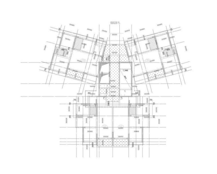 65栋三层结构平面图