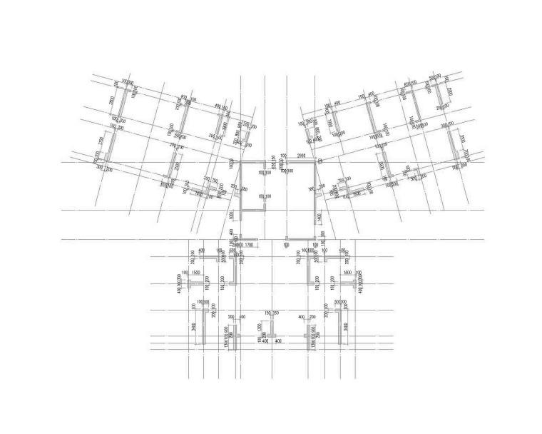 68栋基础顶~二层墙柱定位图