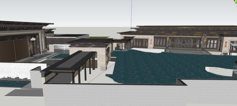 [江苏]苏州建发独墅湾中式示范区建筑模型设计(中式风格)