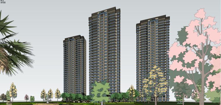 [江苏]苏州科技城现代风格高层住宅建筑模型设计