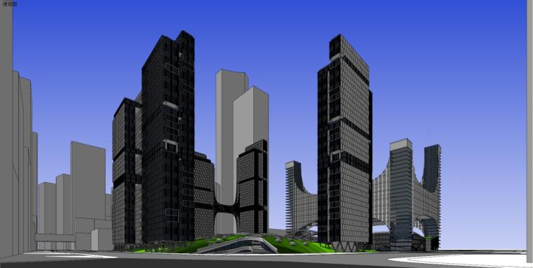 [广东]广州国际金融城建筑模型设计(现代风格)