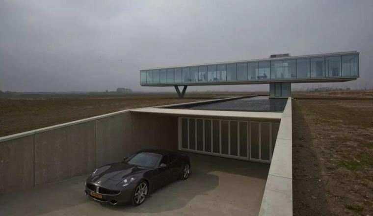 矩形落地窗别墅建筑设计_4