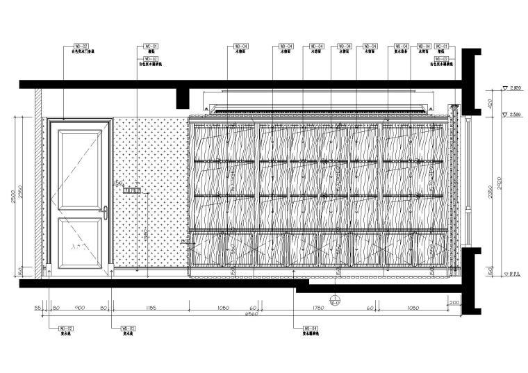 [广东]惠州中洲湾上花园样板间施工图+实景-立面图
