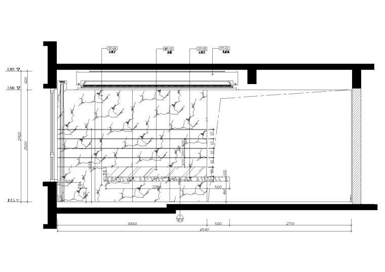 [广东]惠州中洲湾上花园样板间施工图+实景-立面图2