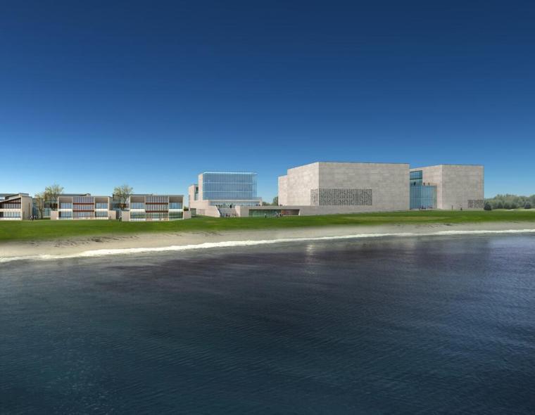 [山东]海尔研究中心企业办公楼建筑方案设计(现代风格|PDF+38页)-效果图