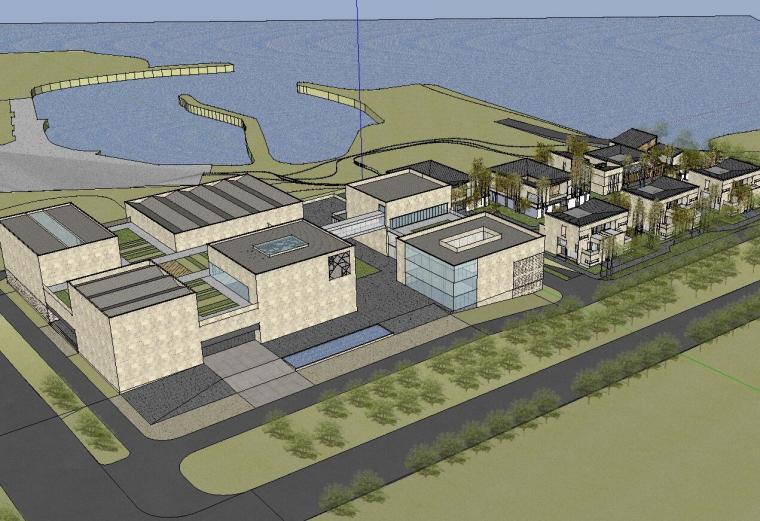 [山东]海尔研究中心企业办公楼建筑模型设计(现代风格)