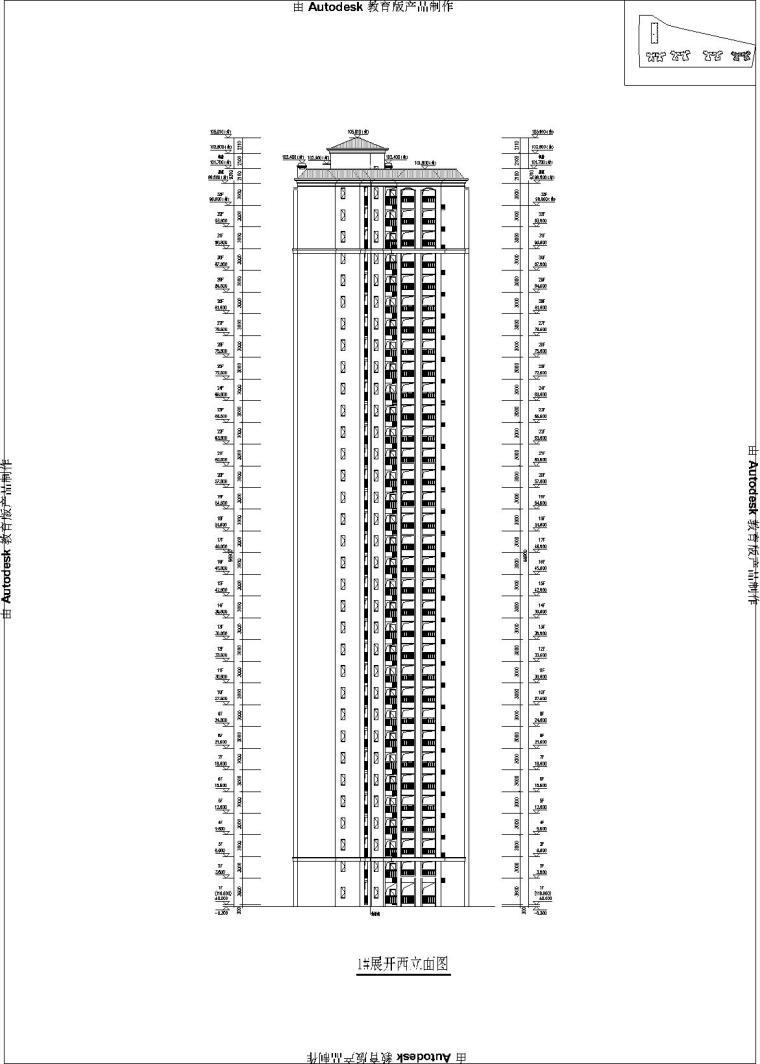 1#楼立面图_t3-Model