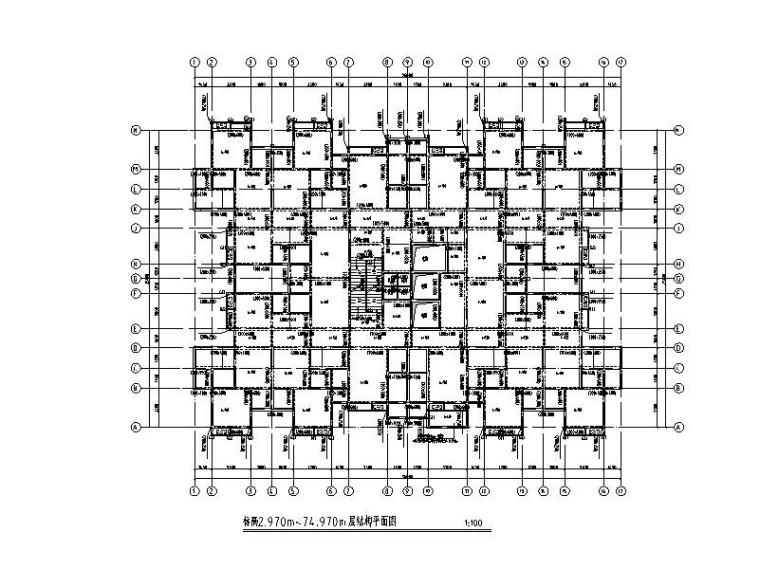 廉租房项目结构初步设计图(框支剪力墙)