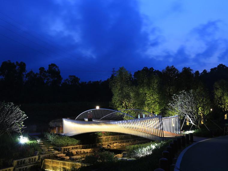 深圳禾塘湿地公园人行钢桥