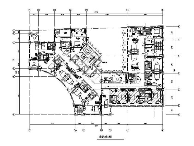 [上海]钢框架新城饭店扩初图(建筑结构)
