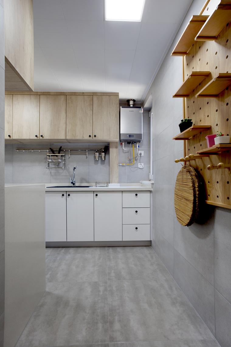[原创作品]用动线做出8米长的三段式储物墙,满屋的原木元素还可-21