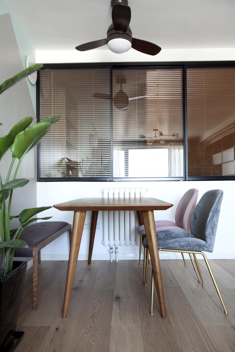 [原创作品]用动线做出8米长的三段式储物墙,满屋的原木元素还可-3