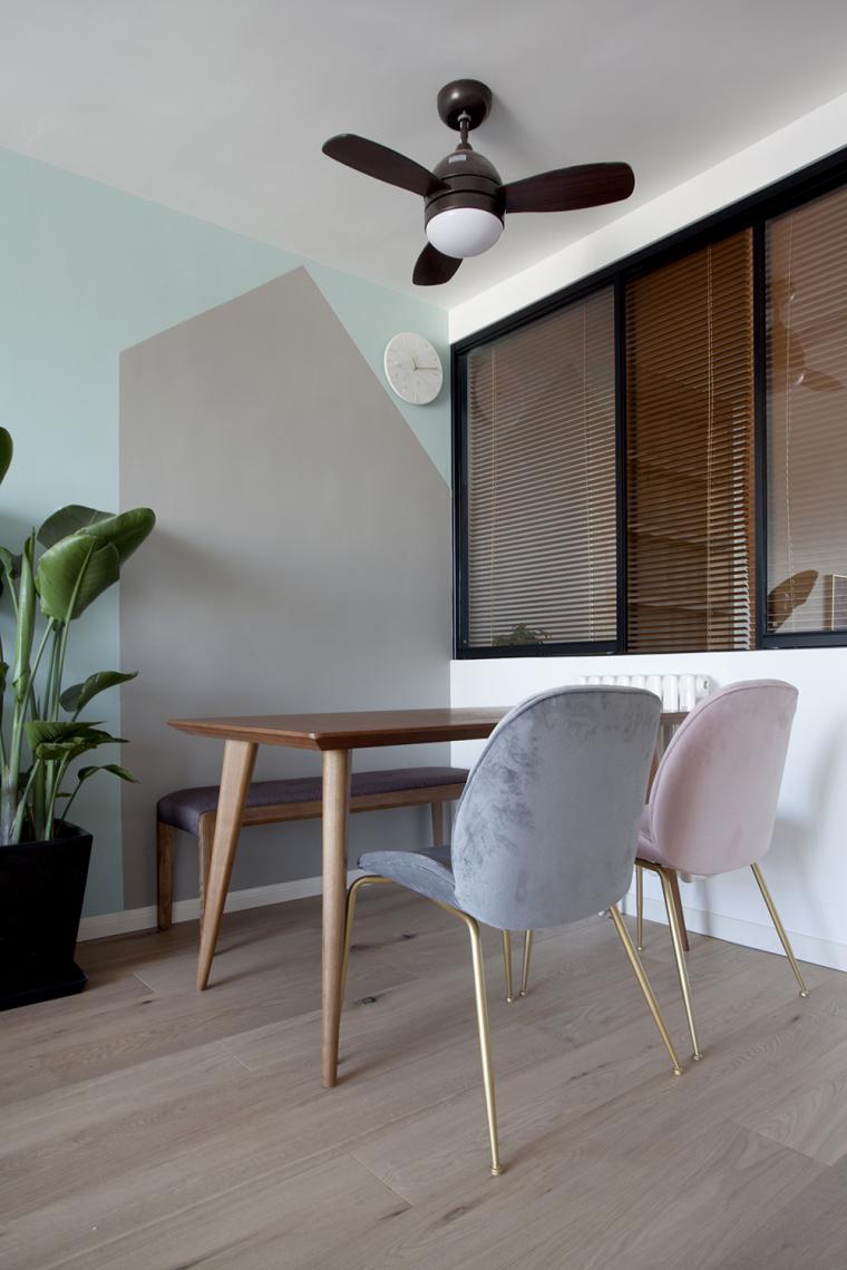 [原创作品]用动线做出8米长的三段式储物墙,满屋的原木元素还可-4
