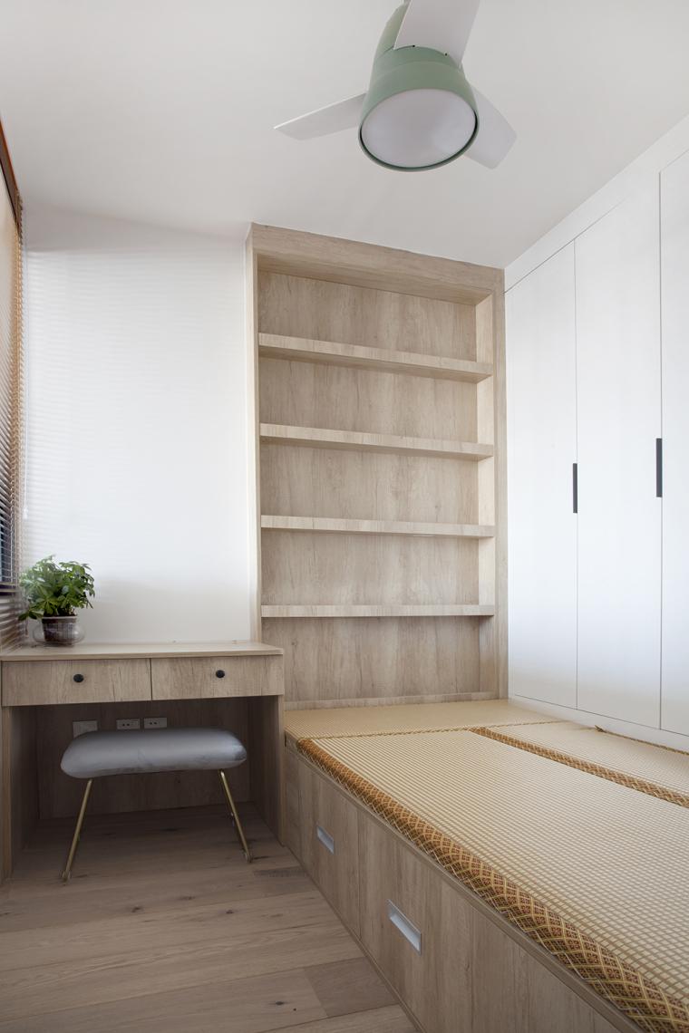 [原创作品]用动线做出8米长的三段式储物墙,满屋的原木元素还可-17