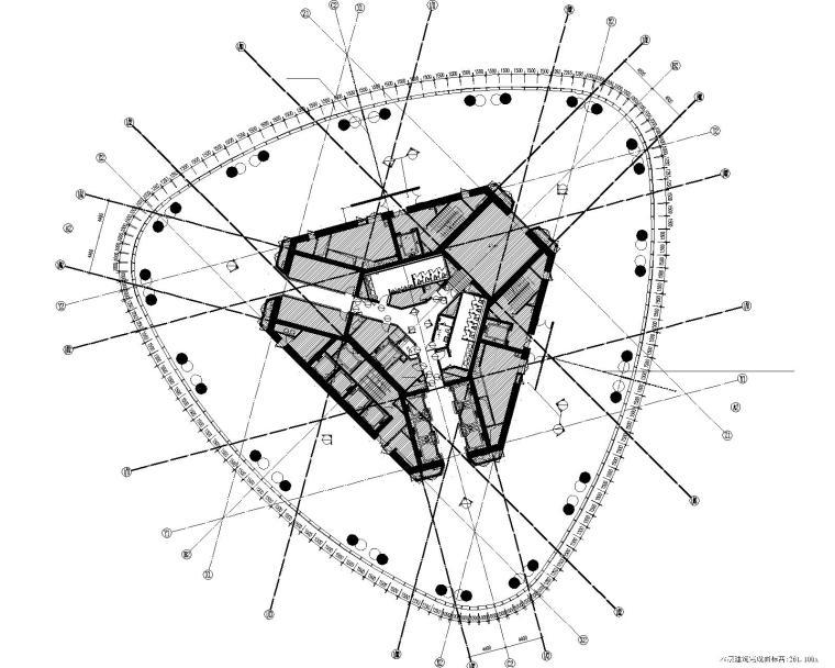 [广东]城市组--广州珠江新城西塔主塔办公区装修施工图+效果图