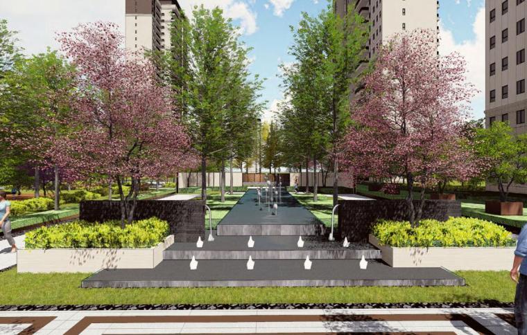 [广东]新中式风格高档居住区景观概念方案设计(PDF+75页)