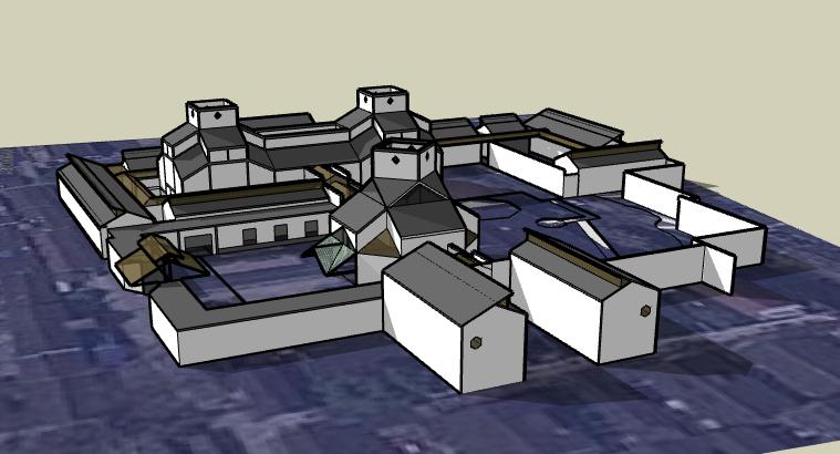 苏州博物馆建筑SU模型