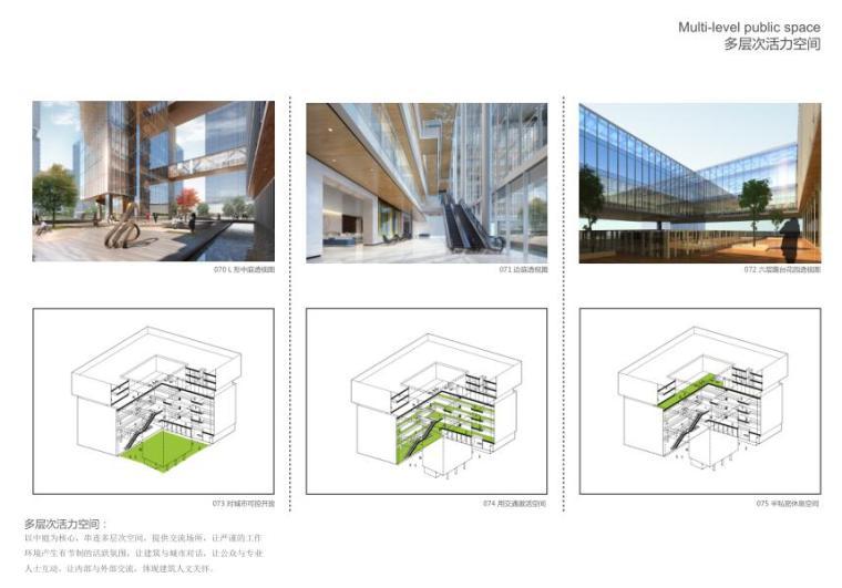 [广东]现代风格大厦建筑方案文本(PDF+46页)-多层次活力空间