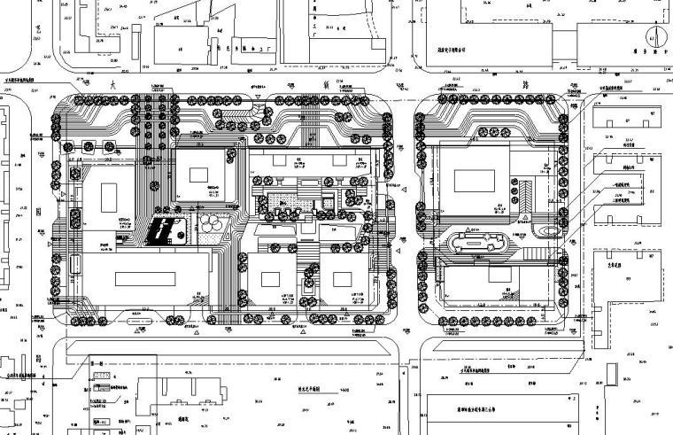 [广东]立润现代风格富达商业广场建筑施工图设计(CAD)