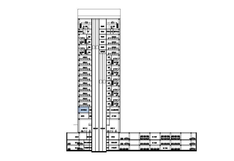 [江西]现代风格企业办公楼建筑施工图设计(CAD)