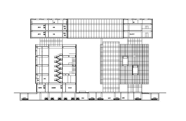 [广东]现代风格大厦建筑施工图设计文本(CAD)