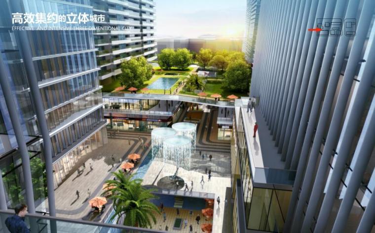 [广东]立润现代风格富达商业广场建筑方案文本设计(PDF+130页)-高效集约 的 立体 城市