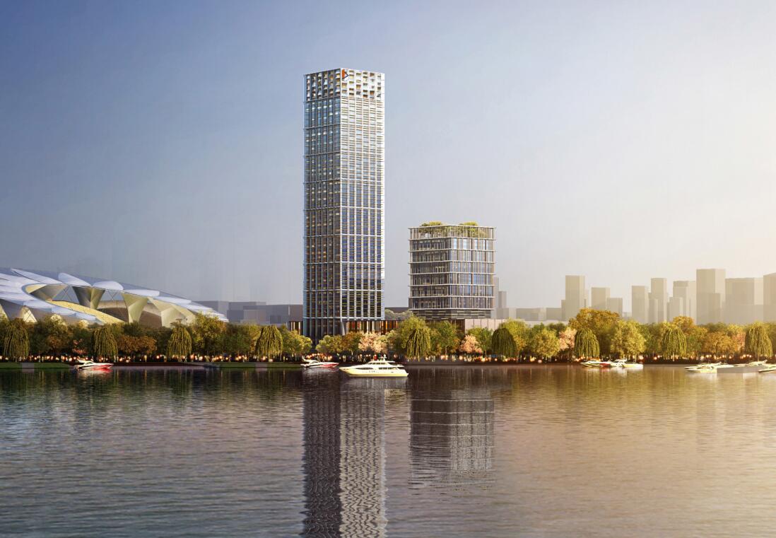 [上海]现代风格商业超高层建筑办公建筑概念设计文本(PDF+77页)