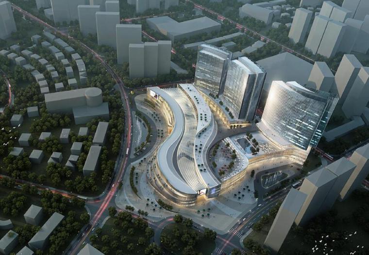 [山东]现代风格商业广场建筑方案文本设计