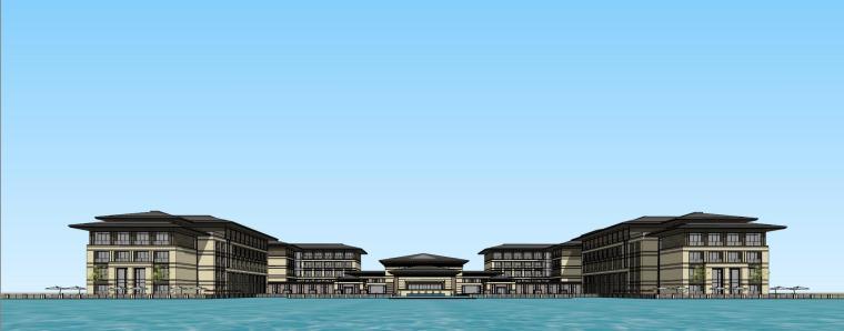 [河南]郑州凤凰岛国宾馆建筑模型设计(中式风格)-知名地产郑州凤凰岛国宾馆 中式最终 (18)