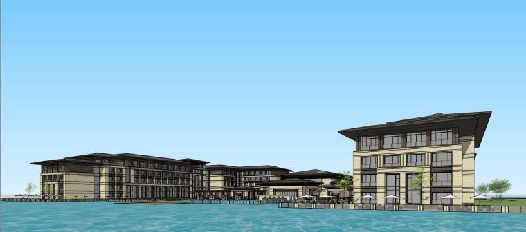 [河南]郑州凤凰岛国宾馆建筑模型设计(中式风格)-知名地产郑州凤凰岛国宾馆 中式最终 (19)