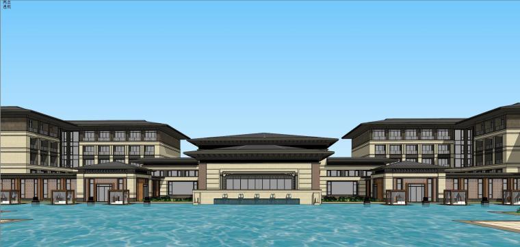 [河南]郑州凤凰岛国宾馆建筑模型设计(中式风格)-知名地产郑州凤凰岛国宾馆 中式最终 (21)