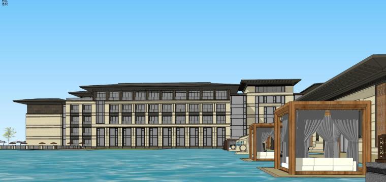 [河南]郑州凤凰岛国宾馆建筑模型设计(中式风格)-知名地产郑州凤凰岛国宾馆 中式最终 (22)