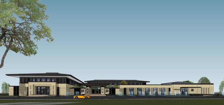 [河南]郑州凤凰岛国宾馆建筑模型设计(中式风格)-知名地产郑州凤凰岛国宾馆 中式最终 (24)