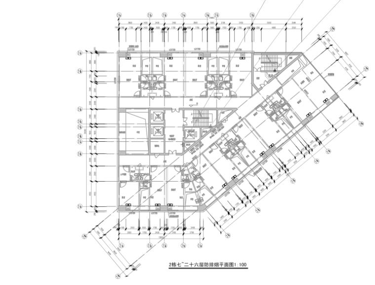 深圳三十层双栋综合楼暖通设计施工图