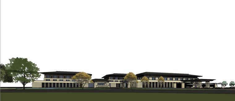 [河南]郑州凤凰岛国宾馆建筑模型设计(中式风格)-知名地产郑州凤凰岛国宾馆 中式最终 (27)