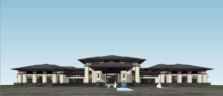 [河南]郑州凤凰岛国宾馆建筑模型设计(中式风格)-知名地产郑州凤凰岛国宾馆 中式最终 (29)