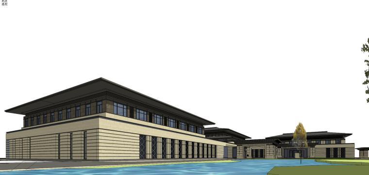 [河南]郑州凤凰岛国宾馆建筑模型设计(中式风格)-知名地产郑州凤凰岛国宾馆 中式最终 (28)