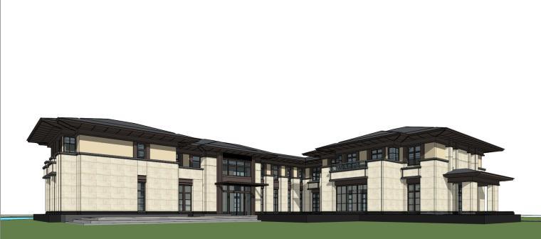 [河南]郑州凤凰岛国宾馆建筑模型设计(中式风格)-知名地产郑州凤凰岛国宾馆 中式最终 (31)