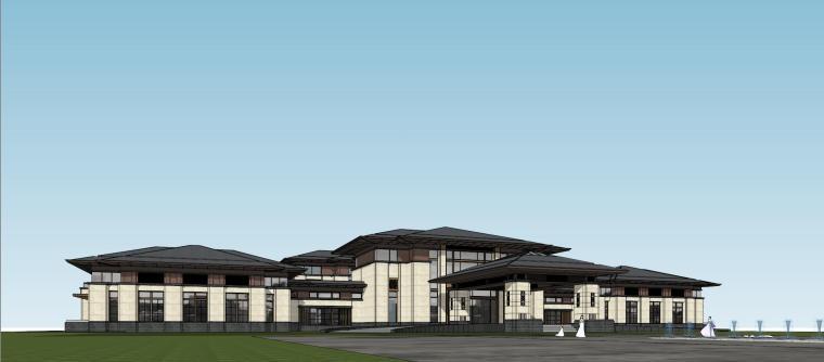 [河南]郑州凤凰岛国宾馆建筑模型设计(中式风格)-知名地产郑州凤凰岛国宾馆 中式最终 (30)
