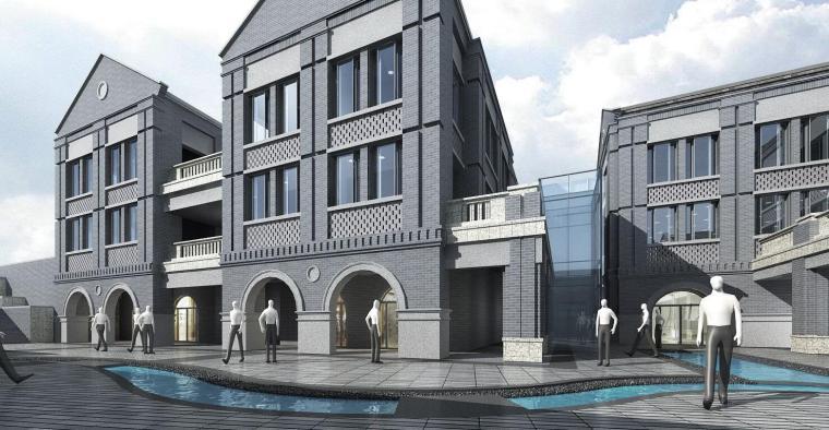 [山东]绿地济南西十六里河商业建筑模型设计(民国风风格)
