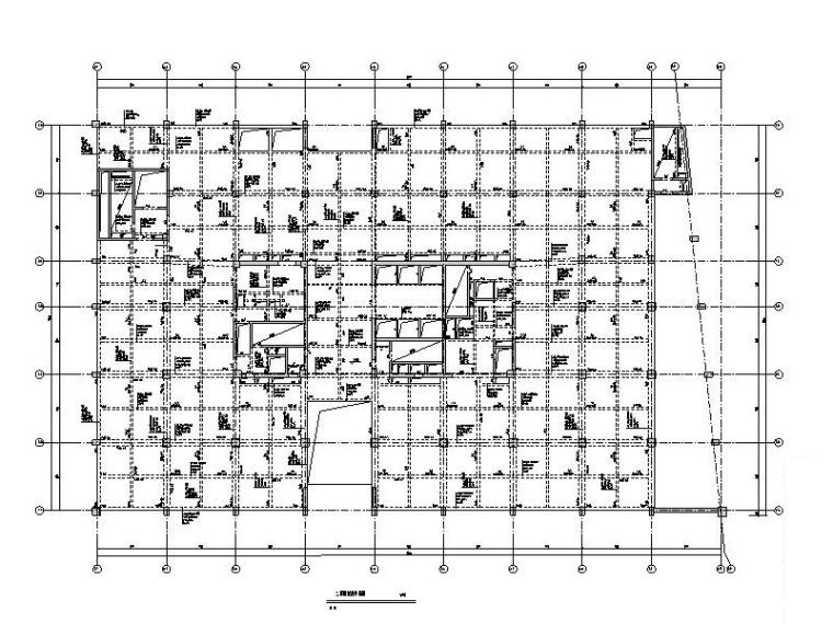 框剪结构银行办公大楼建筑结构施工图(复杂高层结构)