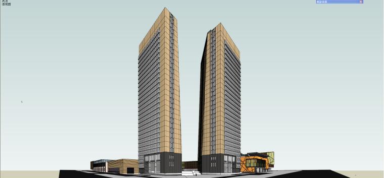 现代风格商业综合体建筑模型设计